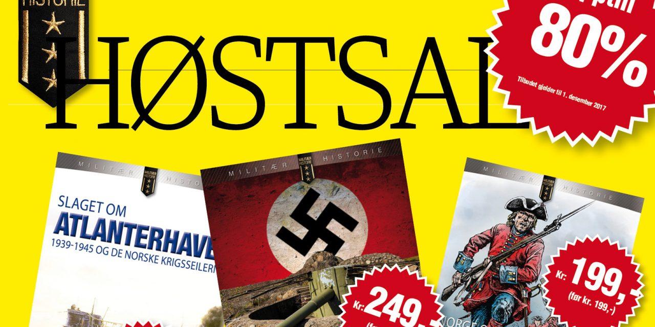 Høstsalg på militærhistoriske bøker og blader